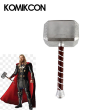 Superhero 1:1 Thor Hammer Mjolnir Replica PU Weapon Toy Model For Adults Halloween Collection Party Cosplay Props Performance цена