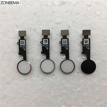 """ZONBEMA 10 шт./лот, высокое качество, домашняя кнопка с гибким кабелем, ленточная сборка для iPhone 7 8 Plus, 4,"""" 5,5"""", Запасная часть"""