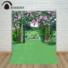 Allenjoy photographic background Lawn wedding flower arches backdrops princess christmas font b photo b font Excluding