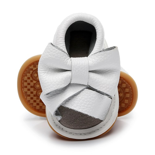 Genuine Leather Baby Sandals Summer Baby Girls Shoes Casual Fringe Child Sandals Bow Rubber Bottom Kids Sandals 6 Color