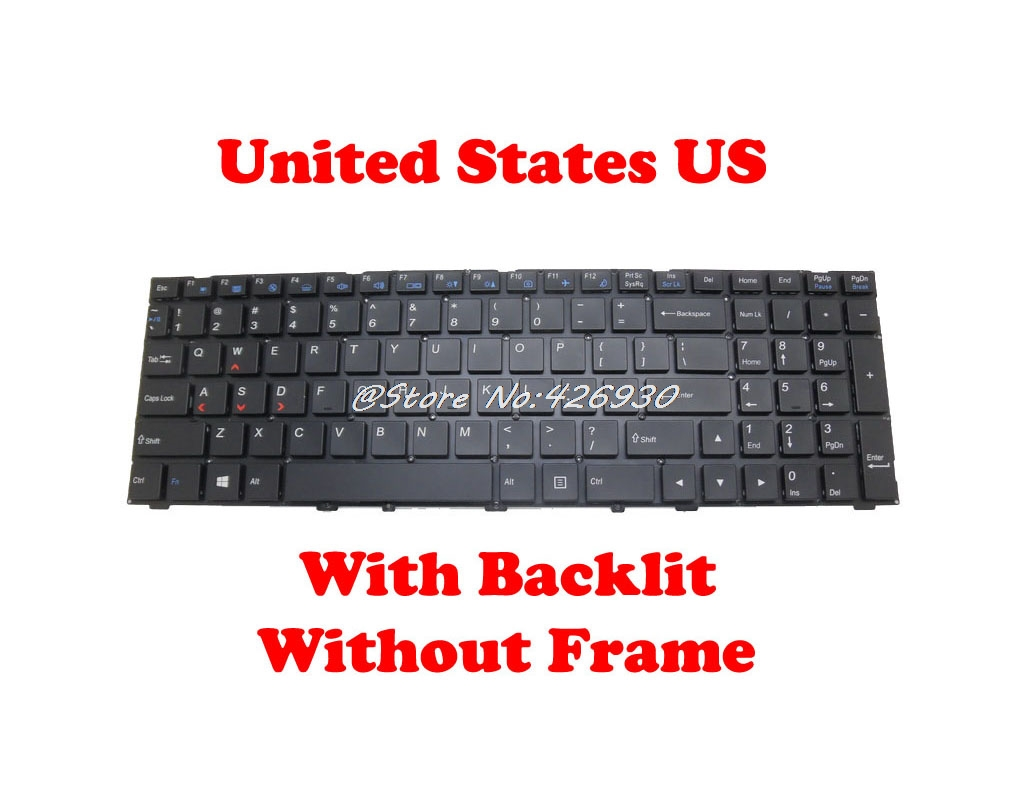 English Backlit Keyboard For CLEVO P650HP6 G P641RF P651HS G P651RS P655RP6 P671RS P670HP6 G