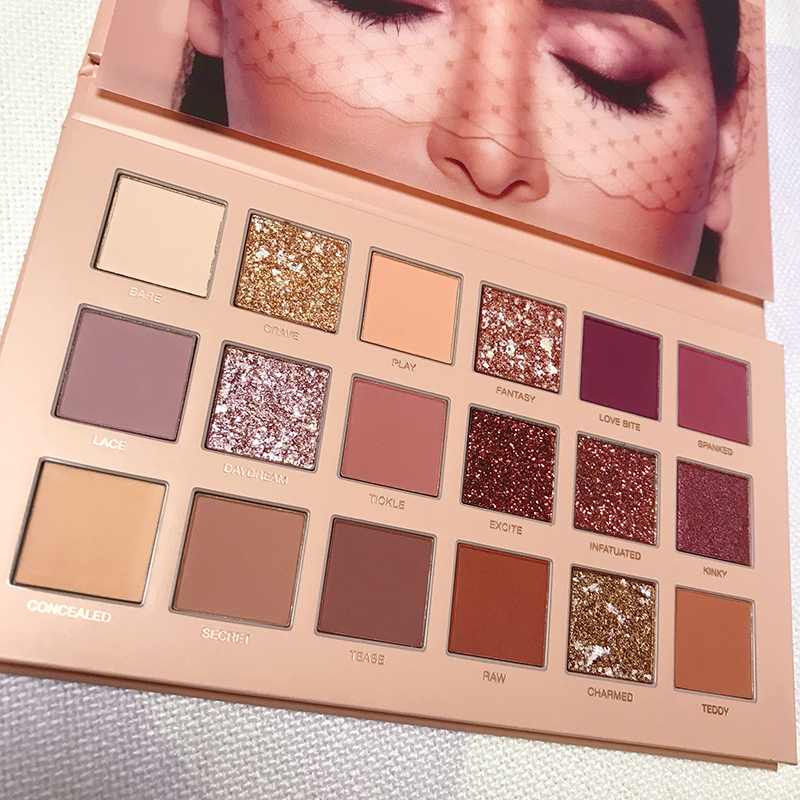 18 Colors Nude Shining Eyeshadow Palette Makeup Glitter Pigment Matte Eye Shadow Pallete Waterproof Cosmetics sombras TSLM2