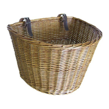 Шьет-Ретро, ручная работа, плетеная велосипедная передняя корзина с кожаными ремешками