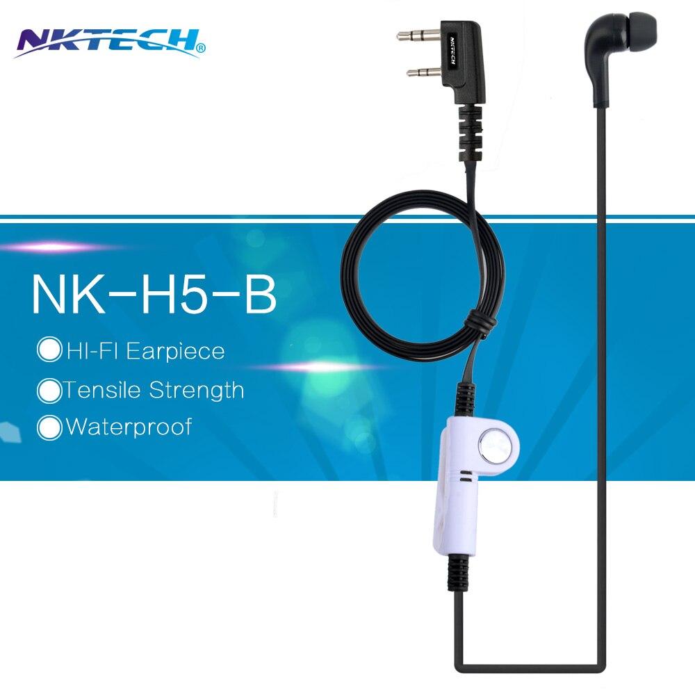 imágenes para Nktech nkh5 auricular acústico del tubo del auricular para baofeng wouxun pofeng nk-u1 uv82 bf-777s wouxun headset uv b5 gt-3tp uv-8hx uv-5r