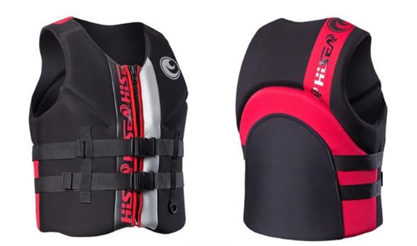Hisea adult life vest buoyancy thickening drift vest marine snorkeling swimming suit Surfing scuba children lifejacket 4colors03