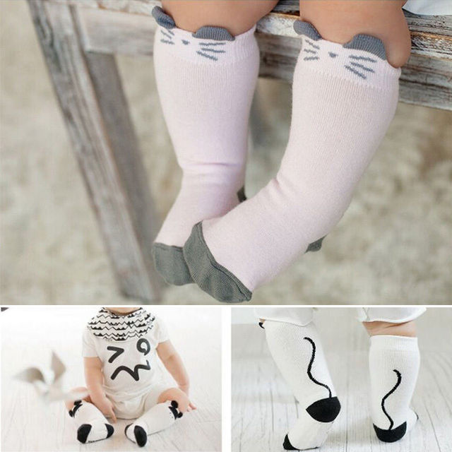 60e4d20fe Pink and White Cute Baby Kids Toddlers Girls Knee High Socks Tights Leg  Warmer Stockings ZJ