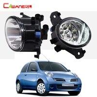 Cawanerl 2 Pieces Car Styling Fog Light Daytime Running Light LED Light Bulb 12V For Nissan