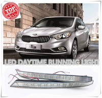 Factory direct sales Super bright LED DRL Daytime Running Lights for KIA K3 2012 2013 2014 2015 with fog lamp