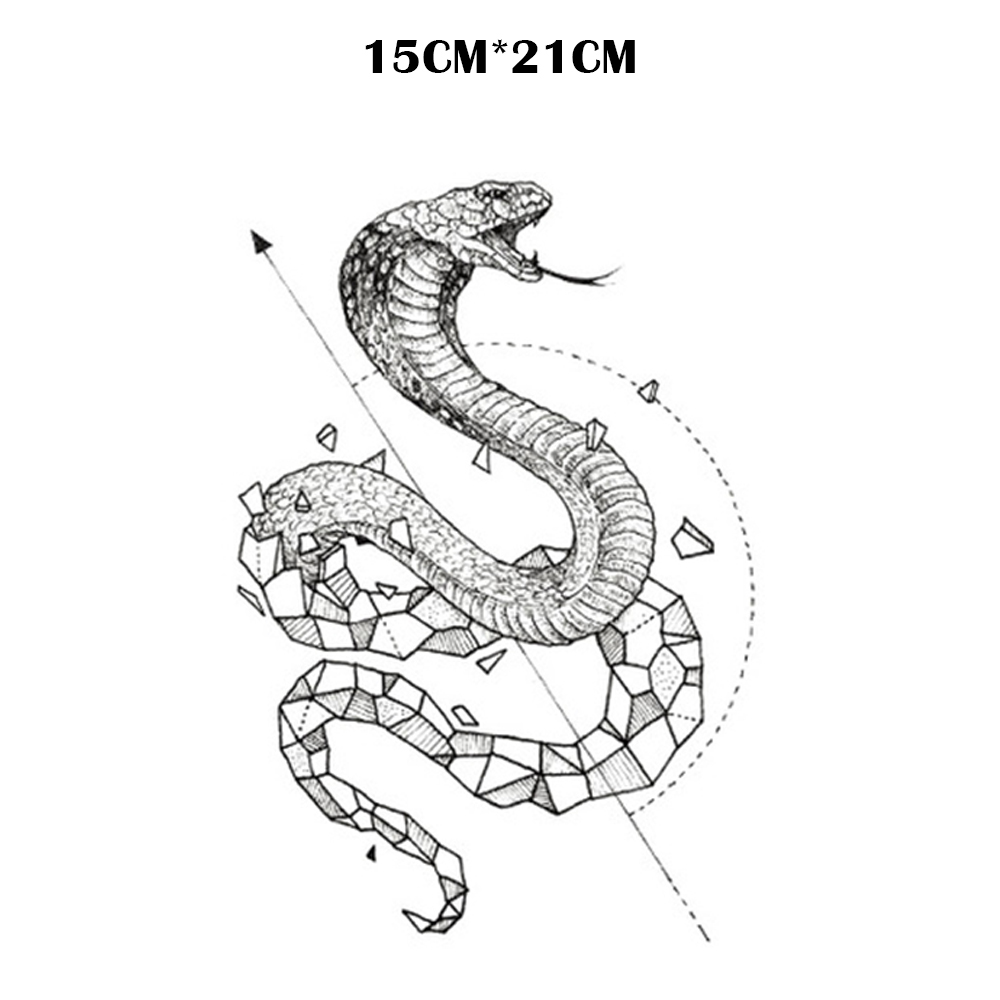 Snake Waterproof Temporary Tattoos Men Maquiagem Beauty Temporary Tatoo Sticker Tatouage Temporaire Adesivos