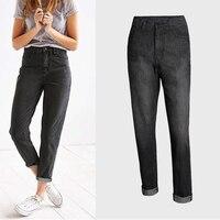 2019 Jeans Women Boyfriend Style High Waist Women Black Gray Color Jeans Femme Mujer Women Straight Denim Jeans Pants