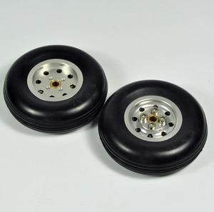 """Image 3 - 1 Uds. Cubo de rueda de goma con modelo de avión de aluminio para RC y cubiertas de Robot DIY 1,75 """" 4,5"""""""