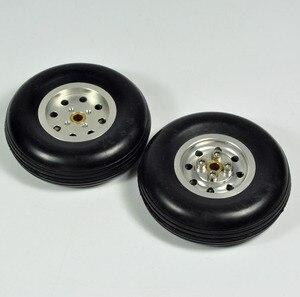 """Image 3 - 1 pz gomma ruota con mozzo in alluminio per rc modello di aereo e diy pneumatici robot 1.75 """" 4.5"""""""