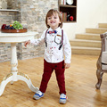 Импортные детская одежда дешево-одежда-китай с длинным рукавом + брюки одежда наборы atummn весна комбинезоны дети мальчик 2 шт.