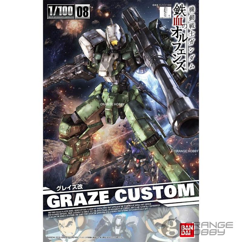 OHS Bandai TV Iron-Blooded Orphans Season I 08 1/100 Graze Custom Mobile Suit Assembly plastic Model Kits