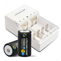 2pcs x Large capacity NiMH 11000mAh D rechargeable battery+ universal charger for 9v/AA/AAA C D size NiMH rechargeable batteries