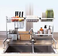 304 раковина из нержавеющей стали, корзина для слива, кухонные полки, подвесные тарелки, тарелки, стеллажи для хранения, посуда, предметы дома