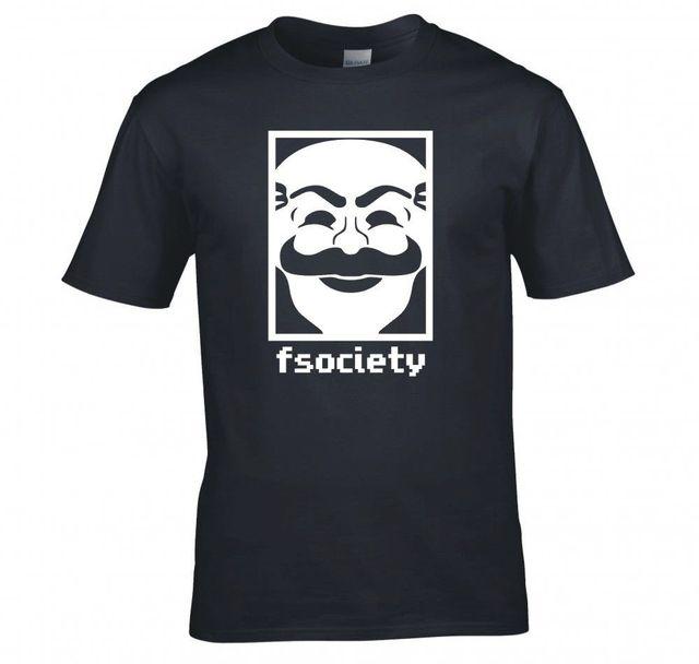O Società T Tshirt Nuova Shirt Maschera F Collo MrRobot roBhtQxdsC