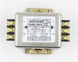 220VAC jednofazowy filtr mocy EMI CW4EL2 20A R CW4EL2 30A R do montażu na szynie w Części do urządzeń do pielęgnacji osobistej od AGD na