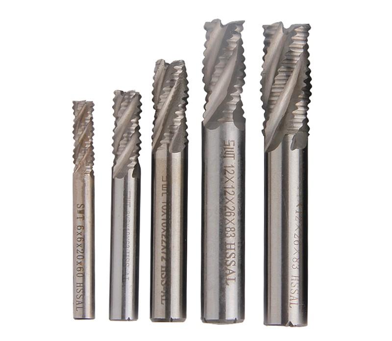 Lot 1pcs 4Flute Hss Roughing EndMills Cutting Dia 12mm Length 83mm End Mills
