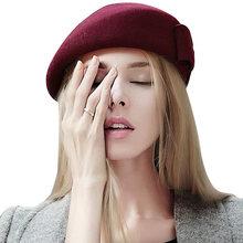 Las mujeres de alta calidad invierno lana Boinas Cachemira femenina sombrero  caliente señora Fieltro artista boina 5ac92a8f29f