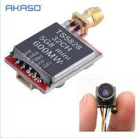5 8GHz 600mW 32CH Mini Wireless Video Transmitter TS5828 600TVL 1 4 1 8mm FPV 170