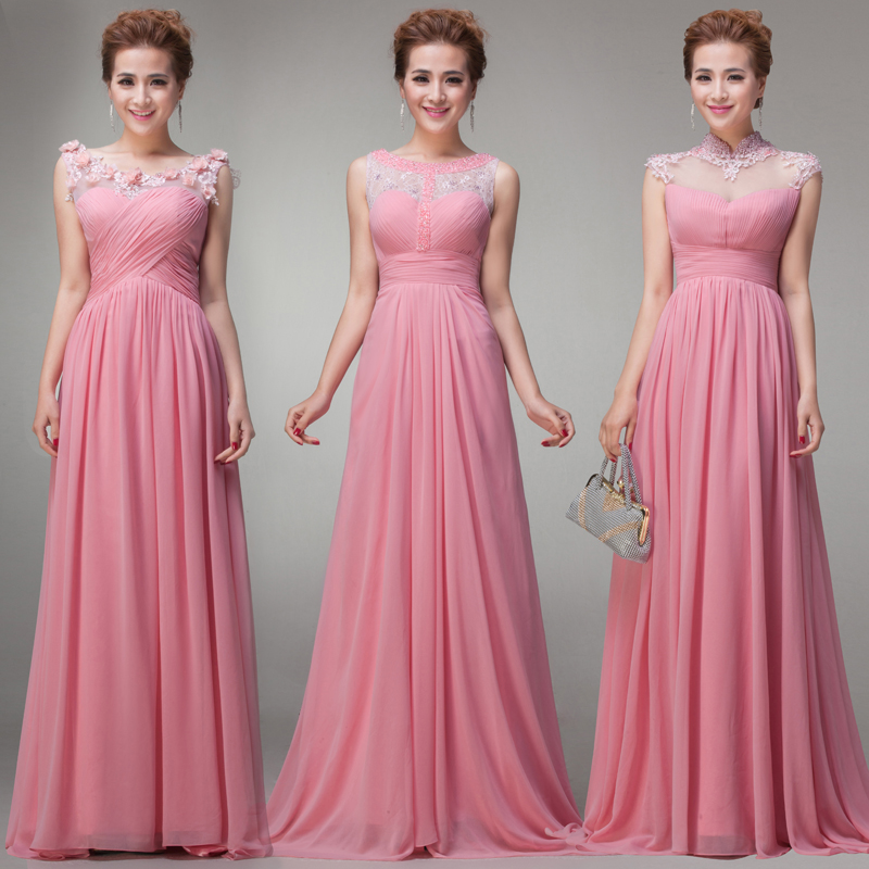 2014 Free Shipping Wholesale Floor Length with Cap Sleeve Pink ...