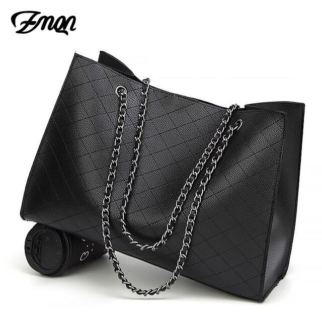 632c8790b0ad ZMQN кожаные сумки для женщин 2018 роскошные сумки женские сумки  дизайнерские большие сумки ручной сумки цепь