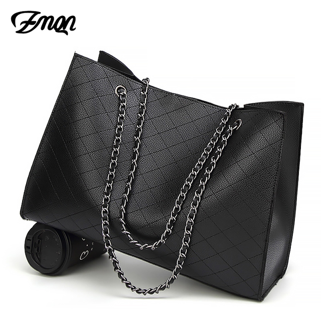 6df98a3dd2d1 ZMQN Leather Bags For Women 2018 Luxury Handbags Women Bags Designer Big  Tote Hand Bag Chain