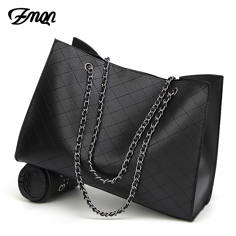ZMQN Leather Bags For Women 2019 Luxury Handbags Women Bags Designer Big Tote Hand Bag Chain Leather Handbag Set Bolsa Feminina