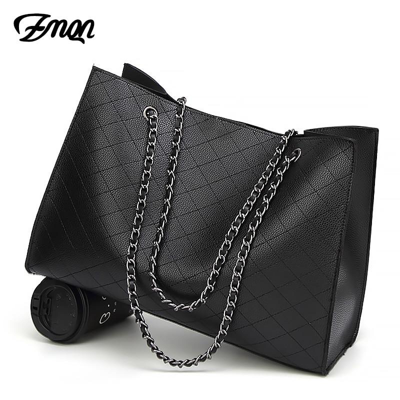137b36d722d ZMQN Leather Bags For Women 2019 Luxury Handbags Women Bags Designer Big  Tote Hand Bag Chain Leather Handbag Set Bolsa Feminina | Shopping discounts  ...