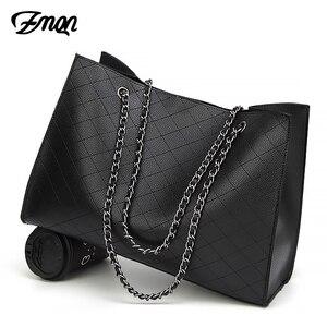 Image 1 - ZMQN Leder Taschen Für Frauen 2020 Luxus Handtaschen Frauen Taschen Designer Große Tote Hand Tasche Kette Leder Handtasche Set Bolsa feminina