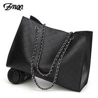 Zmqn bolsas de couro para as mulheres 2020 bolsas de luxo bolsas femininas designer grande bolsa de mão corrente bolsa de couro conjunto bolsa feminina|Bolsas de mão| |  -