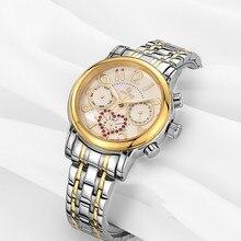 VINOCE Women's Watches Stainless Steel Wristwatch Quartz Calendar Waterproof watchbands Ladies dress watch for women clock reloj