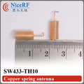 200pcs/lot  SW433-TH10 433MHz Copper Spring Antenna for wireless RF module