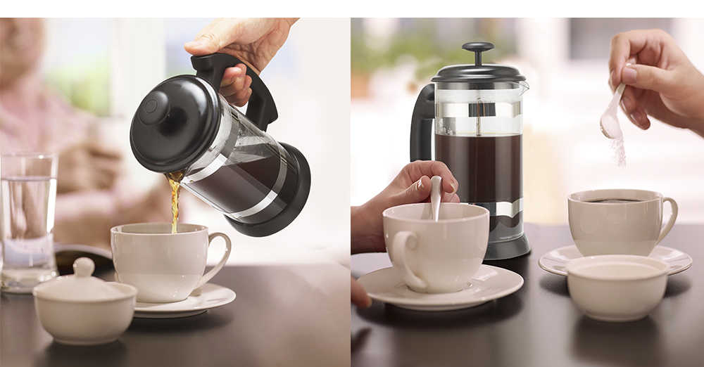 กาแฟ/ชา Brewer กาแฟ POT กาต้มน้ำ 1000ML แก้วสแตนเลส THERMOS เครื่องมือ Barista กาแฟ carafe