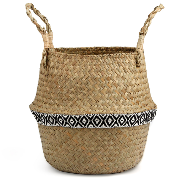 Handmade Decorative Storage Basket – Ethnic Accent