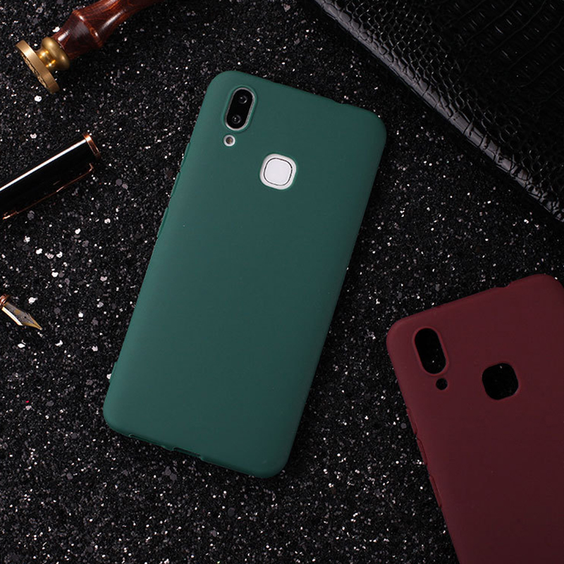 Ultra Thin Matte TPU Case For VIVO V9 Y85 Luxury Business Candy Soft TPU Phone Back Cover Coques Y85 V 9 Protective Fundas Capas (2)