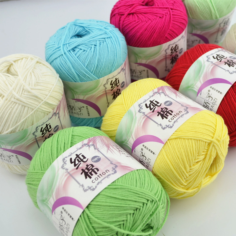 10 Balls/lot 500g Natural Soft Silk Milk Pure Cotton Yarn Thick Yarn For Knitting Baby Wool Crochet Yarn Weave Thread