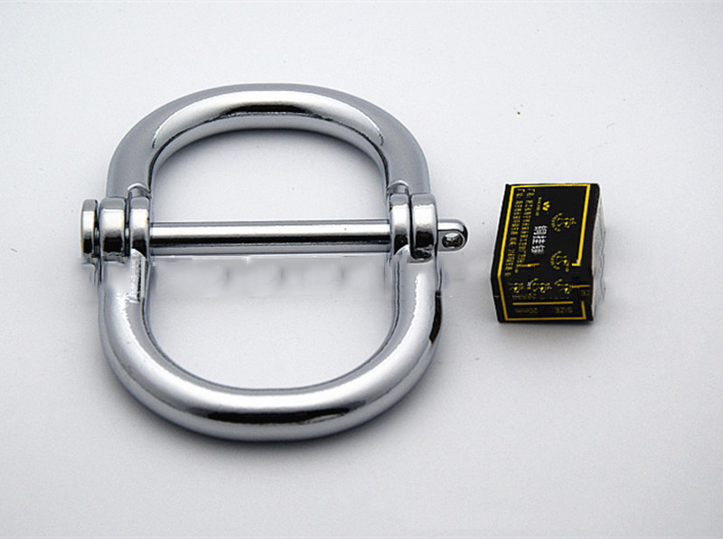 Chastity Locks Metal bondage metal handcuffs Stainless Steel HandCuffs Sex toys Metal silver color locks creative handcuffs style keychain silver