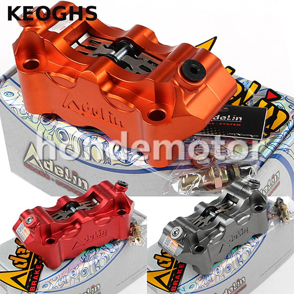 KEOGHS Adelin adl12 Motorcycle Front Brake Caliper With 4 Piston 32mm cnc aluminum brake pump for YAMAHA HONDA KAWASAKI SUZUKI cnc aluminum motorcycle accessories front brake disc caliper protector cover for kawasaki z900 z 900 2017 brake caliper guard
