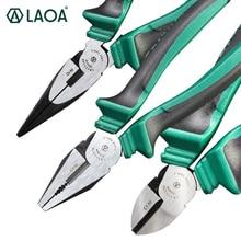 Laoa cr ni pinças de grau industrial cortadores laterais japão stype cabo cortador de fio longo nariz alicate diagonal alicate pinça multitool