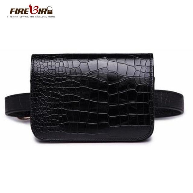Women's Waist Bag Black PU leather Alligator Fanny pack belt bag Purse phone pocket heuptas New Product Promotions Free Shipping
