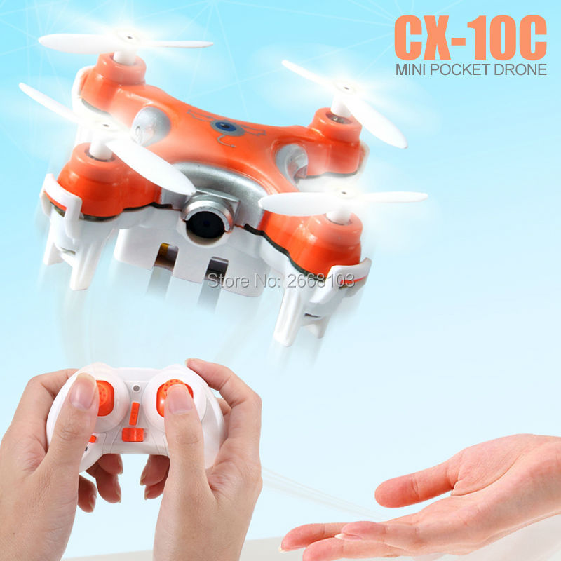 Original Cheerson CX-10C Quad Copter Droni Pocket Drone Quadrocopter CX10C Mini Quadcopter Dron With Camera RC Helicopter VS H20 cheerson cx 95w rc helicopter tiny drone with camera wifi fpv racing mini ufo quadcopter dron rtf pocket drone vs x600