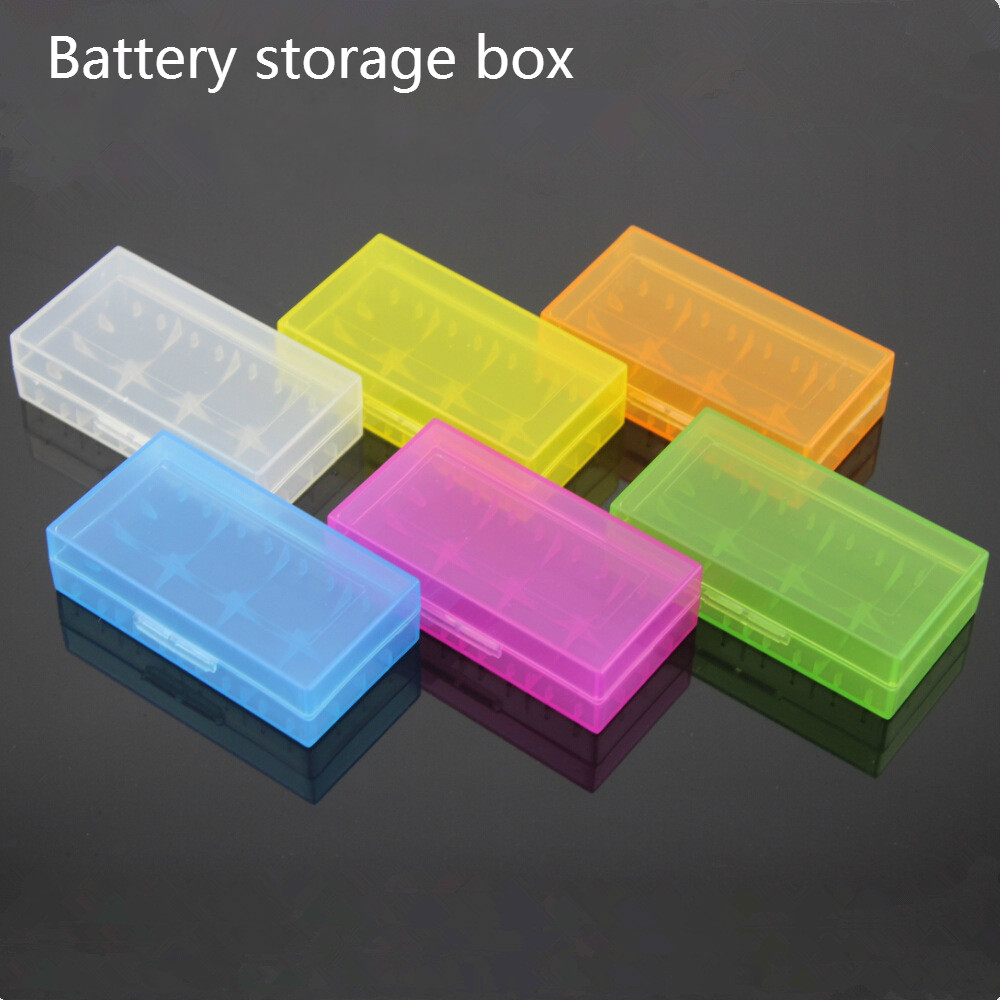 6pcs/lot New Hard Plastic <font><b>Battery</b></font> Protective Storage Boxes <font><b>Cases</b></font> Holder For 18650 18350 CR123A <font><b>18500</b></font> <font><b>Battery</b></font> Free shipping image