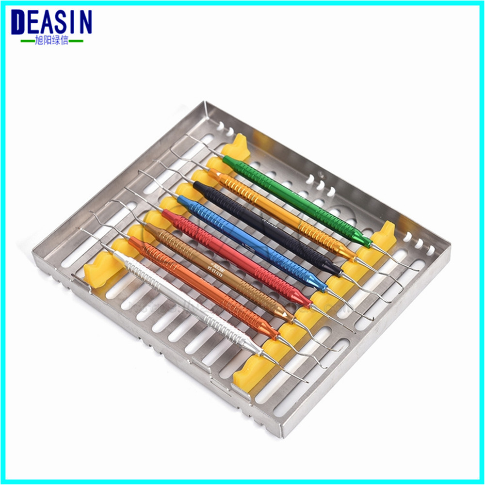 8Pcs/set Dental Tool Stainless Steel Dentist Teeth Clean Hygiene Picks Scaler Oral Care with stainless steel disinfection box new arrival dental stainless steel disinfection placing box for 10 pcs dental instrument for instrument disinfection plate