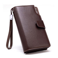 New Brands Clutch Bag Men Wallets Black Brown Luxury Large Capacity Gift For Male Double Zipper