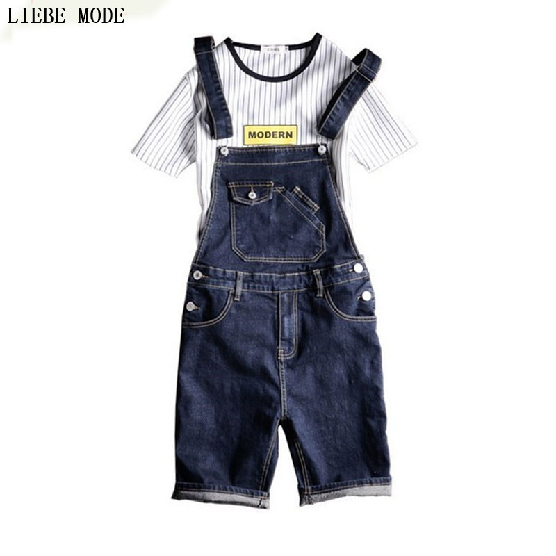 Jean Jumpsuits For Men Denim Overalls Men Light Blue Jean Shorts Denim Bib Overall Shorts For Men
