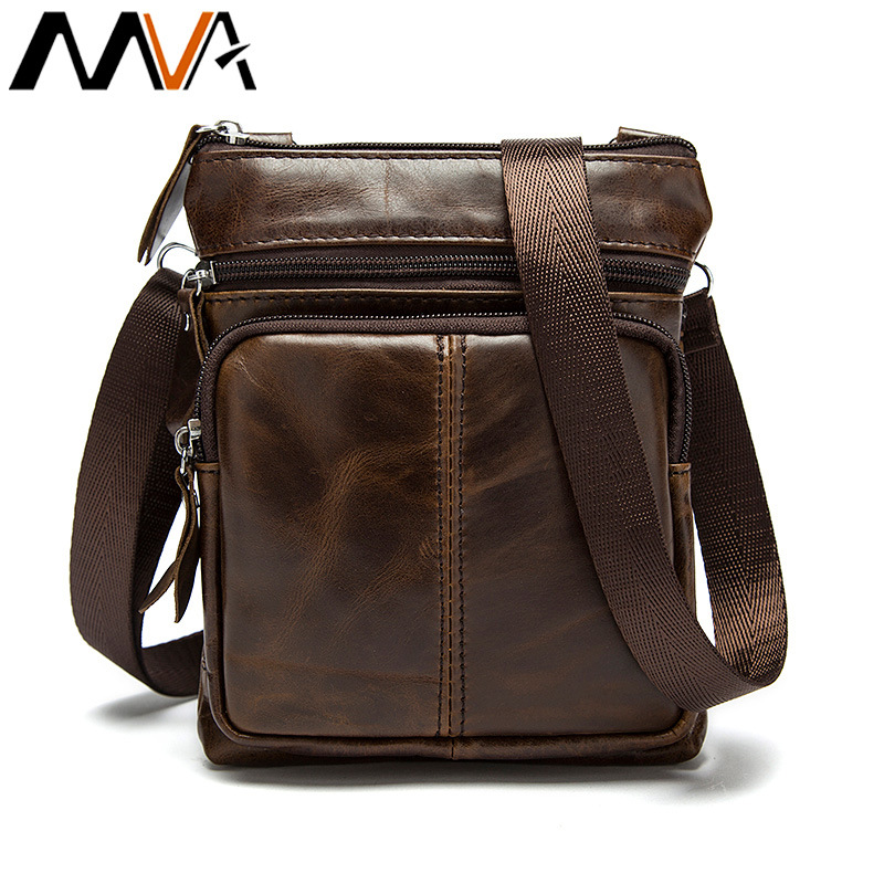Messenger Shoulder Bag Men Canvas tote Genuine Leather Small male man Crossbody bags for Messenger men Leather bolsa Handbags цена 2017