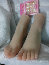 2016 Lifelike Sex Doll Men New Arrival Foot Fetish Toys Real Pussy Clone Feet Fake Rubber Silica Gel Female Footwear Model Props