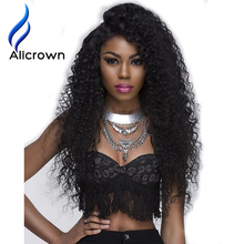Alicrown 8A Grade Curly Wig For Black Women Glueless Full Brazilian Full Lace Wig With Baby Hair Kinky Curly Lace Wigs Bleach